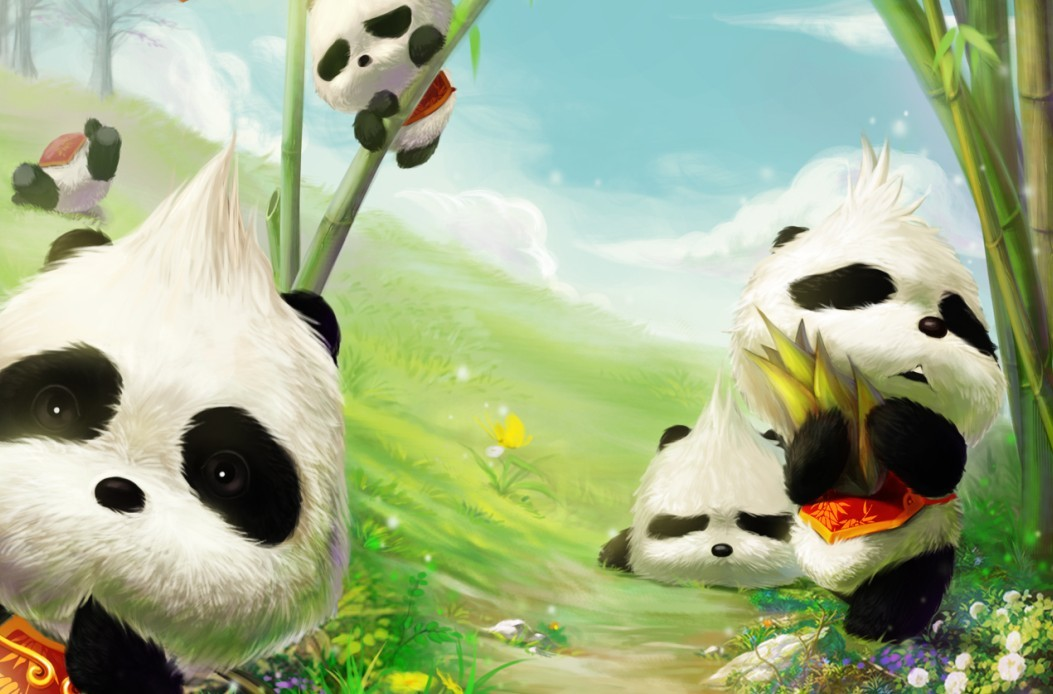 壁紙 大熊貓 動漫 動物 卡通 漫畫 頭像 1053_694